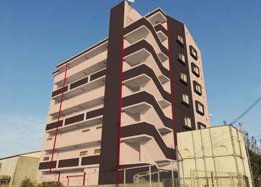 外壁修繕と同時にエントランスリノベーションのデザインをご提案